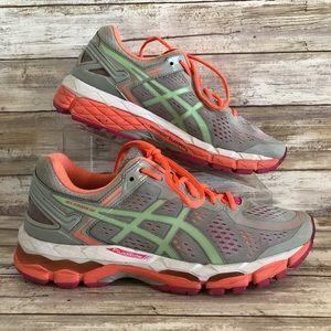 ASICS Gel Kayano 22 Gray Athletic Running Shoe